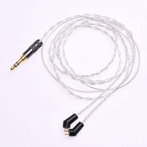 Image 2 - 1.2m (4ft) 5N OCC posrebrzane słuchawki kabel Upgrade dla Etymotic ER4P ER4B ER4S HiFi kabel 2Pin wtyczka