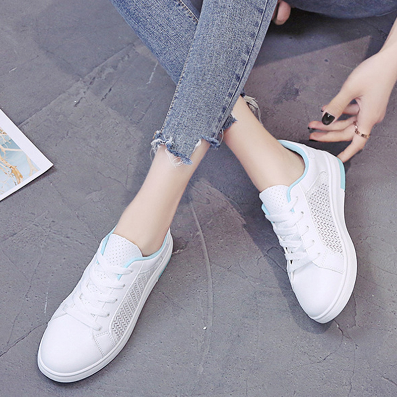 Sneakers Women Breathable Mesh Summer Autumn Women Causal Shoes Fashion White Leather Flat Walking Female Vulcanize Shoes VT1247 (26)