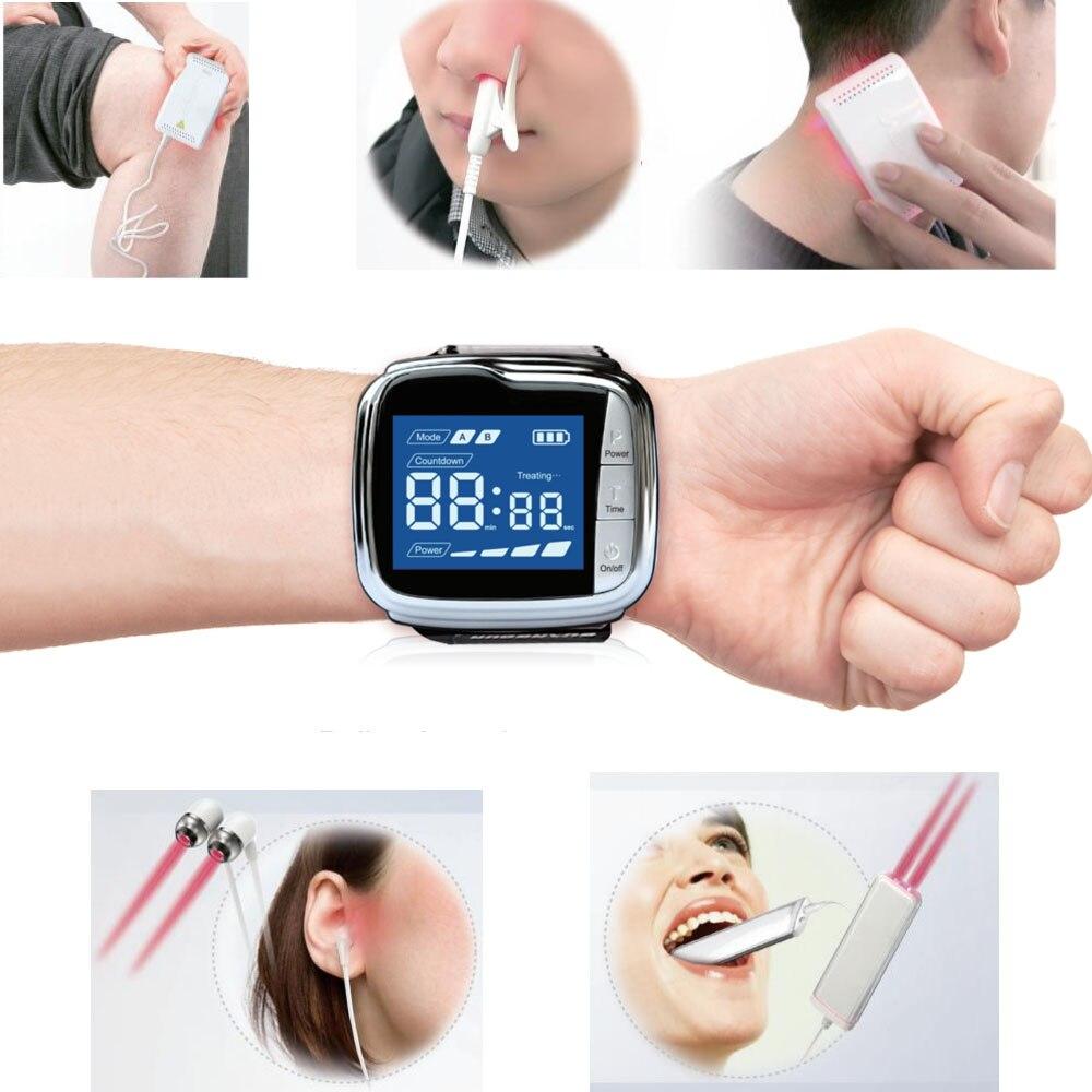 Многофункциональное устройство для терапии LASTEK, полные аксессуары, облегчение боли, фарингит, диабетики, гипертония, лазерные наручные час...