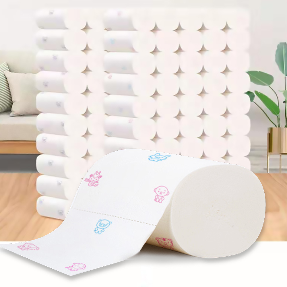 Toilet Paper Bulk Rolls Bath Tissue Bathroom White Soft 5 Ply WC Paper Home Office Use Soft