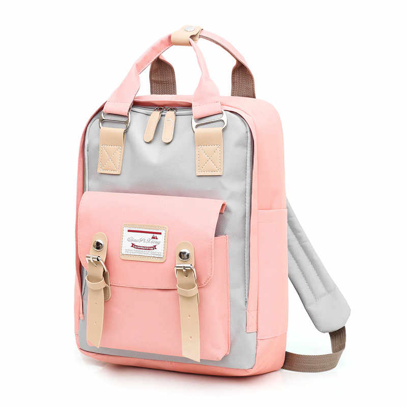 2019 USB mochila women backpack girl shoulder bag High quality canvas laptop backpack schoolbag for teenager girls travel