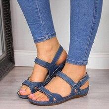 2020 sandalias De las mujeres plano abierto del dedo del pie Zapatos casuales De las mujeres plataforma Vintage fiesta sandalias Dropshipping. Exclusivo. Zapatos De Mujer