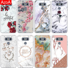 Soft Tpu Cover Voor Lg Q6 Q7 G4 G5 G6 G8 Thinq K50 K4 K8 K10 2017 K11 Plus v20 V30 X Power 2 Q60 Marble Phone Case Luxe(China)