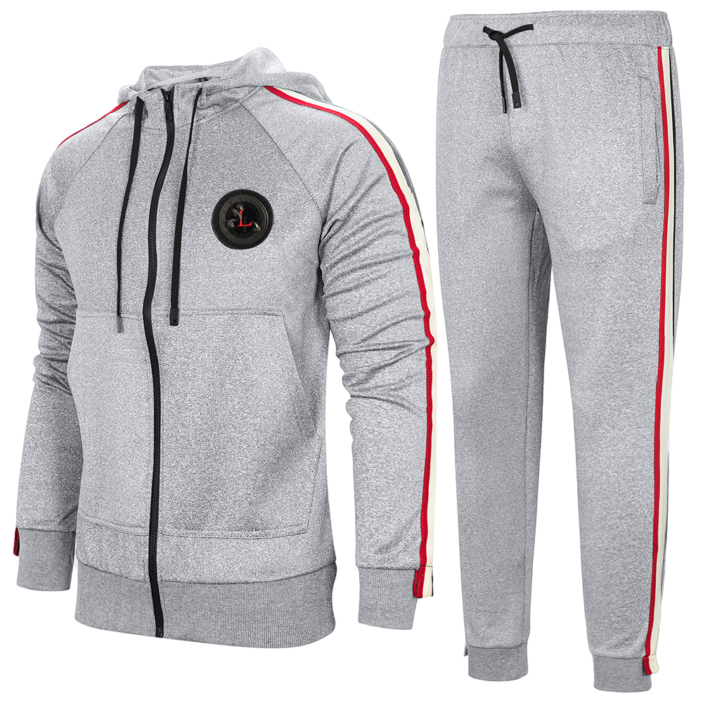 Spring And Autumn Large Size Men's Casual  Sportsuit Jogger Trend Hooded Sweater Suit Outdoor Sports Suit Sweatsuit US EU Size
