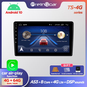 Prelingcar Android 10.0 NO 2 din DVD Car Radio Multimedia Video Player GPS Navigation For Renault Duster 2015-2018 Dacia Duster image