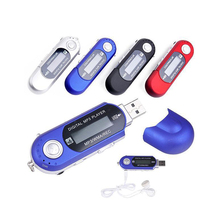 Portable USB MP3 Music Player Digital LCD Screen Support 32GB TF Card & FM Radio With Microphone Black Blue Mp3 Player