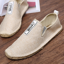 Yahaha Men flats Espadrilles spring summer boats shoes hemp canvas lace-up sneakers breathable fashion casual driving shoes spring summer canvas shoes men breathable casual brand lace up flat shoes comfortable fashion sneakers espadrilles men footwear