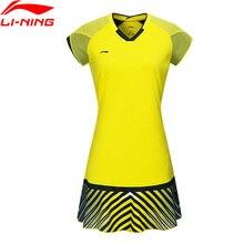 Клиренс) Li-Ning женское платье для соревнований по бадминтону, национальная команда спонсора, подкладка на сухое Спортивное платье ASKN032 WQS2241