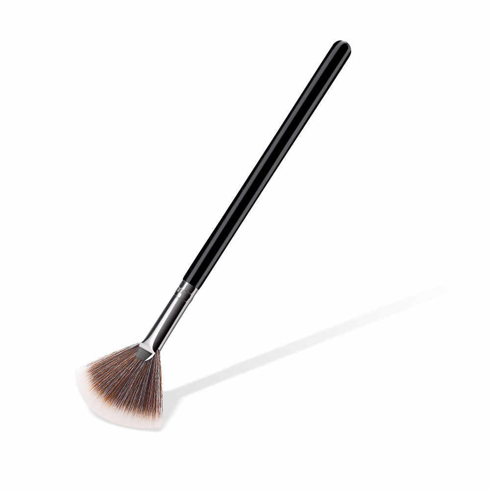 قطاع صغير أسود الفضة فرشاة للمكياج es خشبية الأساس التجميل الحاجب عينيه فرشاة فرشاة للمكياج 22*4*0.8 CM