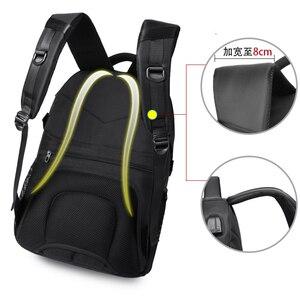 Image 2 - VORMOR 2020 yeni moda erkekler sırt çantası çok fonksiyonlu su geçirmez 15.6 inç Laptop çantası adam USB şarj okul seyahat çantası