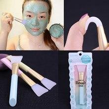 Brocha de silicona para máscara facial, base profesional, barro de manualidades, cepillo de mezcla, herramienta de cuidado facial, 1 ud.