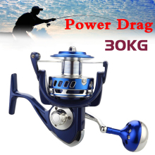 30KG Power Drag All Metal Spinning Reels 6000 7000 8000 9000 10000 Heavy Duty Sea Fishing Boat Fishing Jigging Fishing Reel