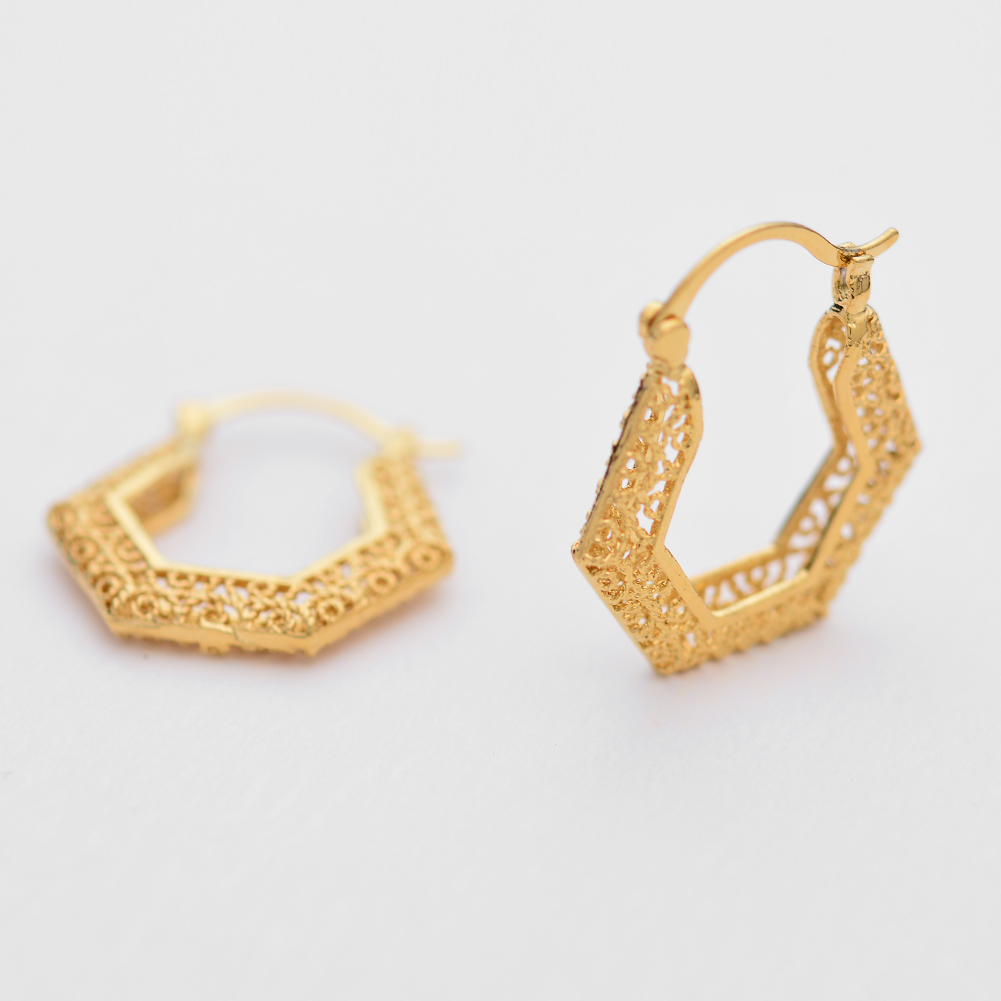 WANDO Gold Color Nationali Ethiopia Earrings For Women/Girl Gold Colour Classic Fashion Jewelry Party Gifts Wedding Earings
