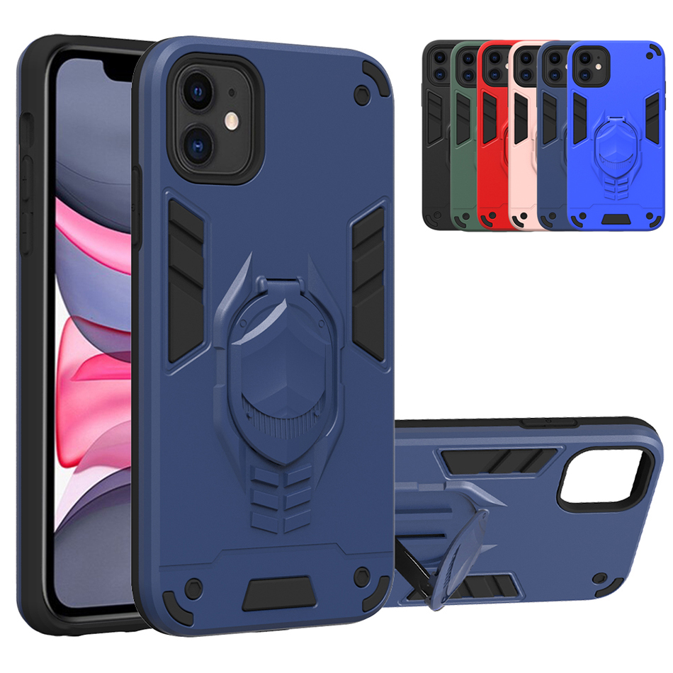 Hybrid Bumper For Iphone 11 Pro Max XS Max XR X XS 7 8 Plus Stand Cover For LG K31 K51 V50S G8X K40 K30 2019 V60 Thinq 5G