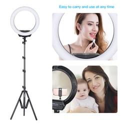 ZOMEI 16 inch Ring Light Adjustable Color Temperature 3200K-5600K Video Shooting Portrait Lamp EU Plug