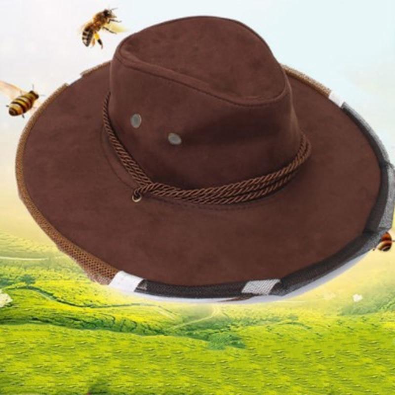 Пчеловодство Шляпа Ориентация на экспорт Пчеловодство Инструмент Модель Ковбой Пчела Профилактика Шапка Пчела Шляпа Классика Форма Пчела Разведение-ABUX