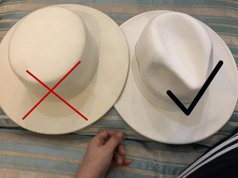 Image 5 - 01907 yucheng صوف جيد ، نوعية جيدة صوف قبعة رسمية fedoras قبعة الرجال النساء الترفيه بنما الجاز قبعة-في قبعات فيدورا الرجالية من الملابس والإكسسوارات على AliExpress