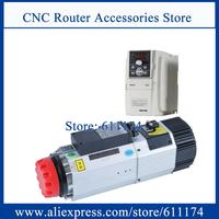 9KW ATC spindle motor Air cooled ISO30 12000 24000rpm automatic Spindle motor AC220V/AC380V + 9kw frequency VFD Inverter