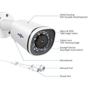 Image 5 - Hiseeu رصاصة 4K 8MP POE IP كاميرا مقاوم للماء تسجيل الصوت فيديو مراقبة الأمن كاميرا تلفزيونات الدوائر المغلقة ل POE NVR 48 فولت ONVIF H.265