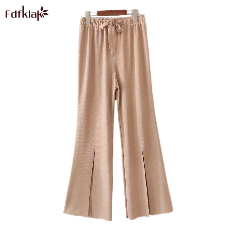 New Korean Summer Women Bottoms Pajama Pants Loose High-waisted Horns Nine Points Casual Sleepwear Pant Lady Lounge Wear Pants