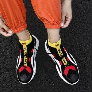 Image 4 - 2020 חדש קלאסי טרנדי אופנה גאות העליונה גרבי נעלי צבע התאמת ספורט מזדמן שטוח שרוכים נעליים יומיומיות גברים של נעליים