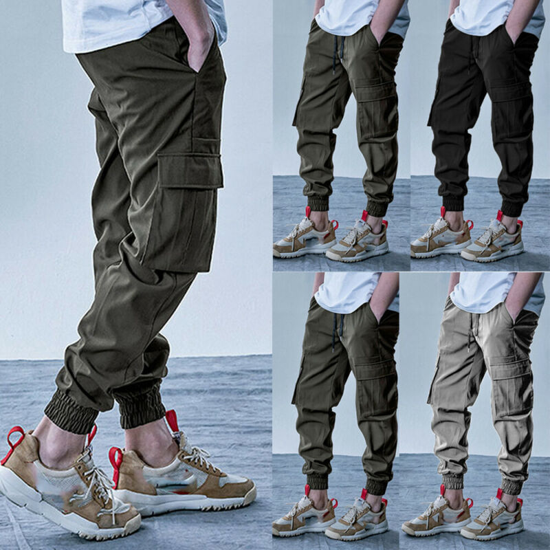New Men Tactical Pants Multiple Pocket Elasticity Military Urban Commuter Trousers Men Slim Fat Cargo Pant