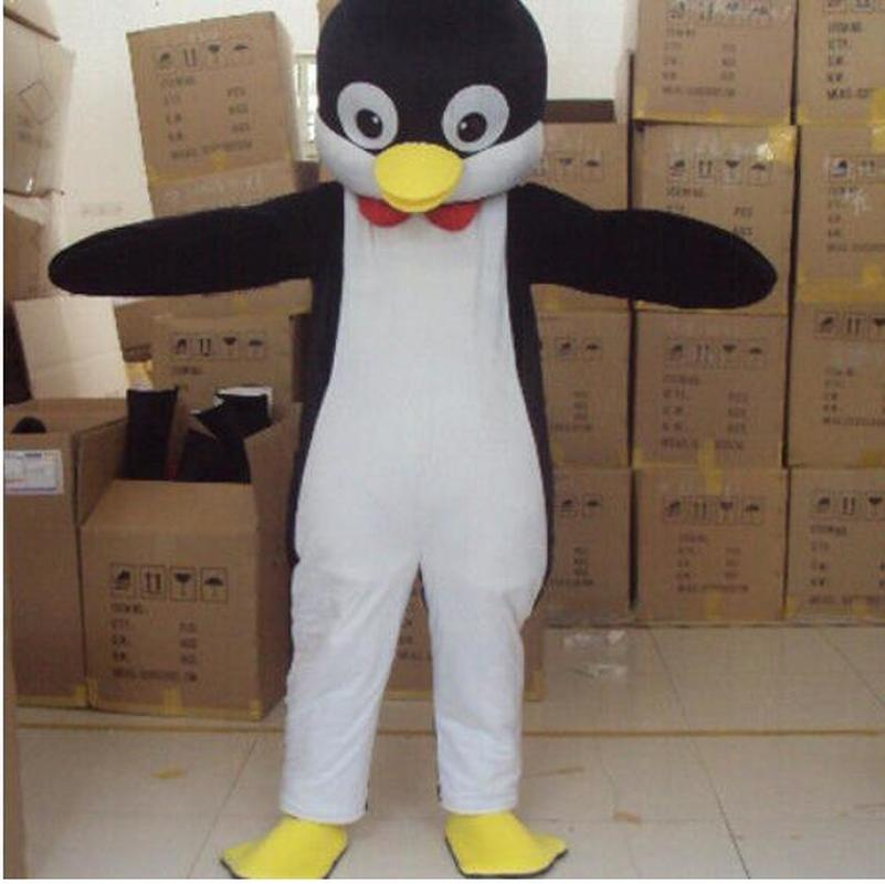 Cute Unisex Cosplay Penguin Mascot Costume Suits Party Game Dress Outfits Clothing Advertising Carnival Halloween Adult Gift