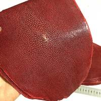 High quality Genuine Stingray Skin Natural Manta Leather Craft DIY Leather Craft Belt Knife Handle Material Ray Fish Skin red