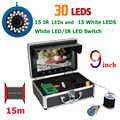 9 дюймов 15 м 1000TVL рыболокатор подводная рыболовная камера 15 белые светодиоды + 15 шт инфракрасная лампа для ледовой/морской/речной рыбалки