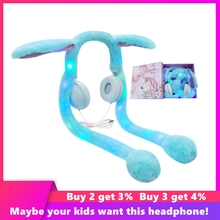 Cute Rabbit Wired Headset Computer Gaming Headset Girl Over Ear Stereo Headphones For iPhone Samsung Xiaomi Birthday Gifts