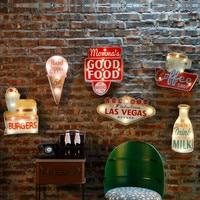 Vintage Las Vegas Led Licht Neon Borden Voor Bar Pub Thuis Restaurant Cafe Verlichting Teken Muur Opknoping Decoratie Led Borden n052-in Platen & Tekens van Huis & Tuin op