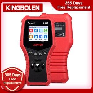 Image 1 - Uruchom CR3008 skaner samochodowy bateria OBD narzędzie diagnostyczne do samochodów czytnik kodów skaner OBD2 OBDII OBD silnik kw850 Creader 3008