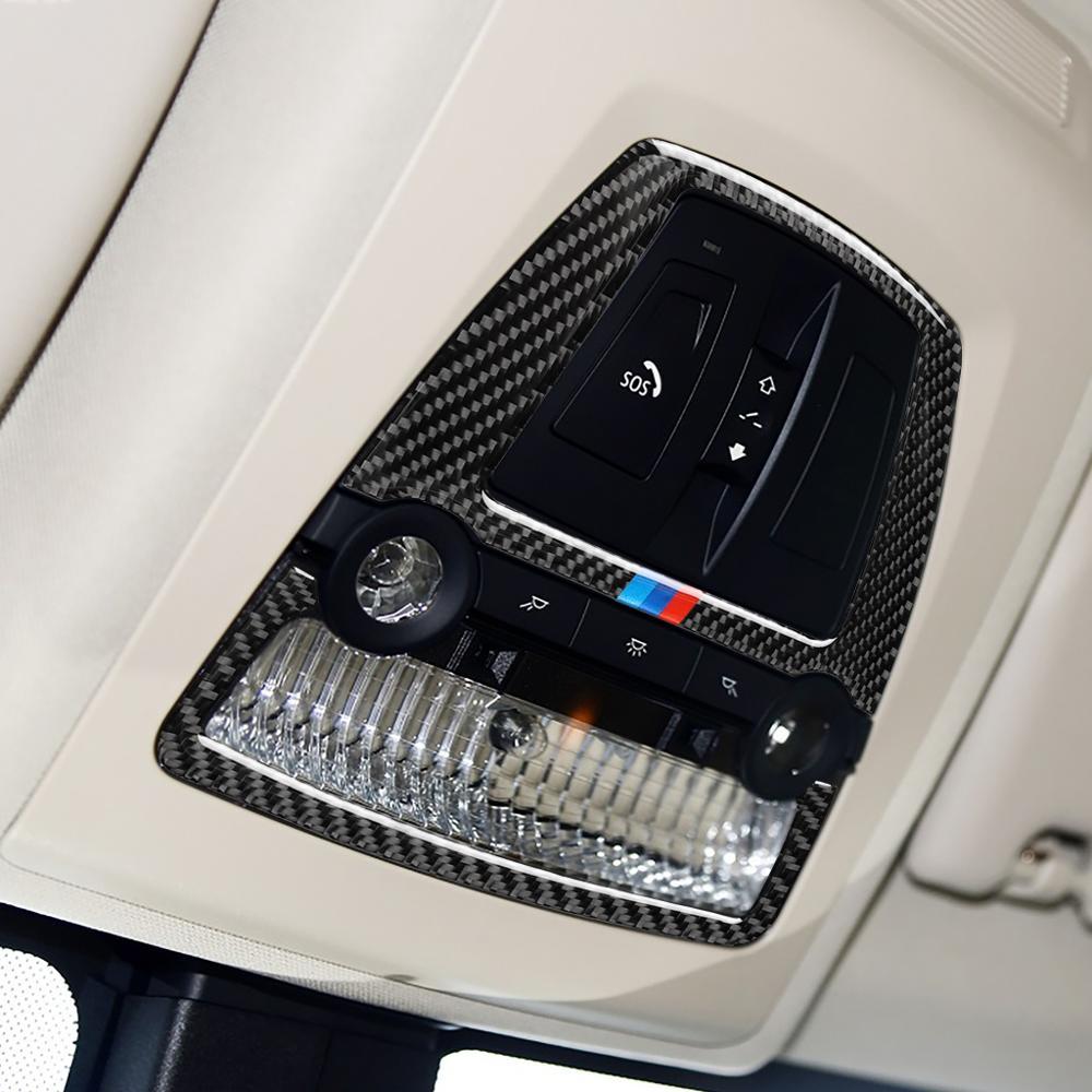 Carbon Fiber Car Sticker For BMW M Power Logo New 5 Series  X5 F10 F11 F20 F30 E87 E39 E60 E46 Emblem Reading Light Decoration