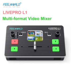 Feelworld Livepro L1 HDMI Video Switcher Multi-Format Video Mixer Real Time Live Streaming Brocasting Studio Record Switcher