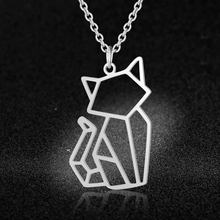 Unique Cute Cat Necklace LaVixMia Italy Design 100% Stainless Steel Necklaces for Women Super Fashion Jewelry Special Gift(China)