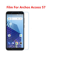 1/2/5/10 Pcs Ultra Thin Clear HD LCD Screen Guard Protector Film With Cleaning Cloth Film For Archos Access 57.(China)