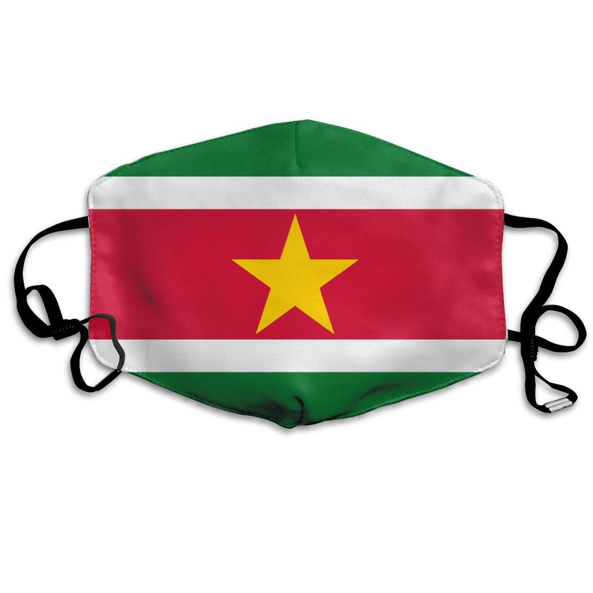Suriname Flags Of Countries Washable Reusable   Mask, Cotton Anti Dust Half Face Mouth Mask For Kids Teens Men Women With