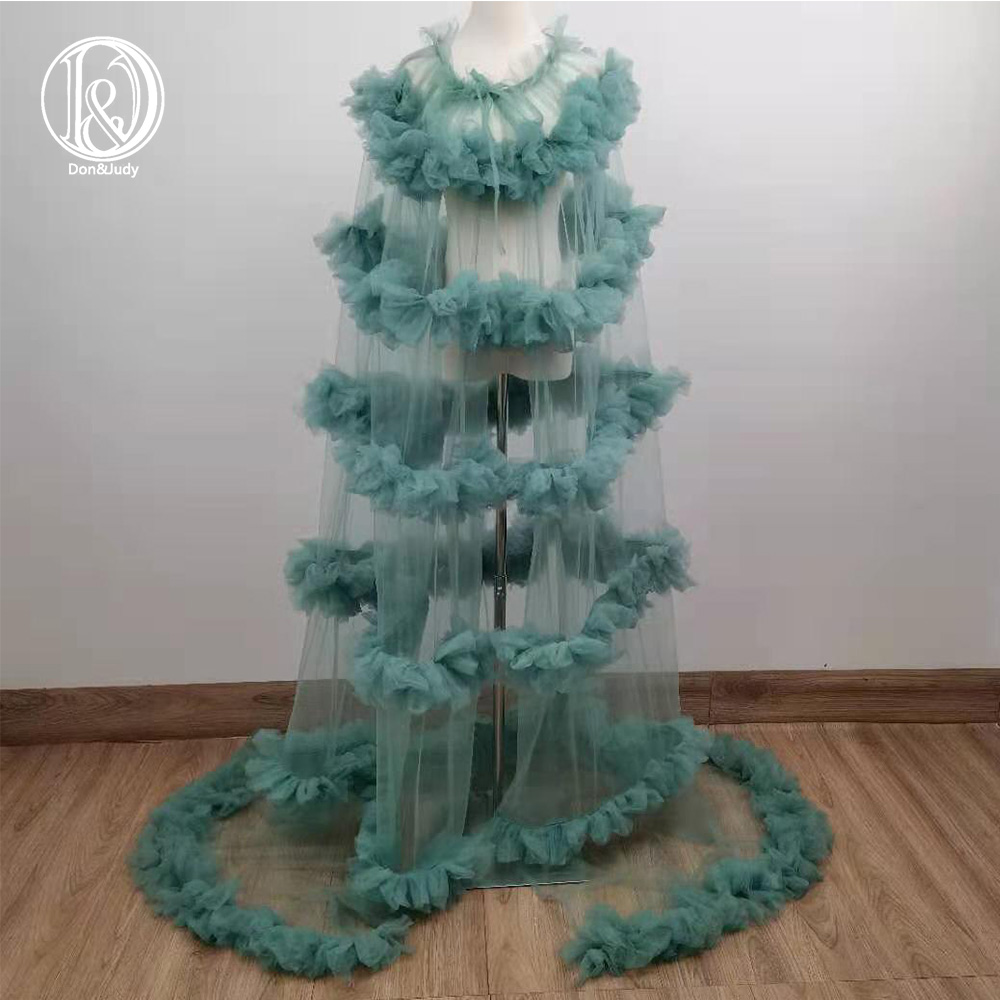 Don&Judy Puffy Tulle Cape Cloak Gown Maternity Dress For Photo Shoot Maternity Photography Dresses Party Evening Prom Cape 2021