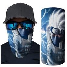 Men Women Cycling Gas Mouth Mask Motorcycle Face Scarf Sun Protection Outdoor Protective Masks Naruto Silk Neck