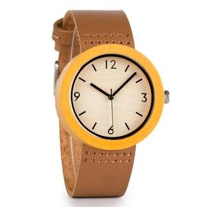 Image 3 - BOBO BIRD خشب من علامة تجارية ساعة نسائية ساعات خشب الخيزران ساعة اليد الإناث ساعة سيدة كوارتز ساعة relogio feminino C D18 2