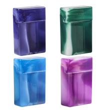 2021 Hot sprzedam papierośnica z przegródkami przenośne plastikowe pudełko papierosów przechowywanie papierosów uchwyt skrzynki losowy kolor tanie tanio CN (pochodzenie) Cigarette Case 3-compartment Z tworzywa sztucznego Ekologiczne Other Nowoczesne Rectangle Organizer do biura