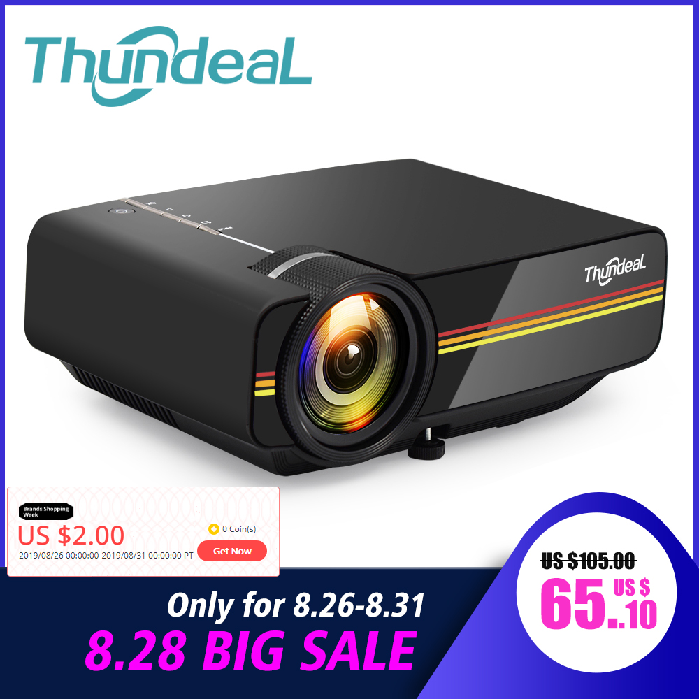 Thundeal Mini Projector Wired-Sync-Display Movie Yg400-Up Wifi Lumen HDMI Stable Beamer