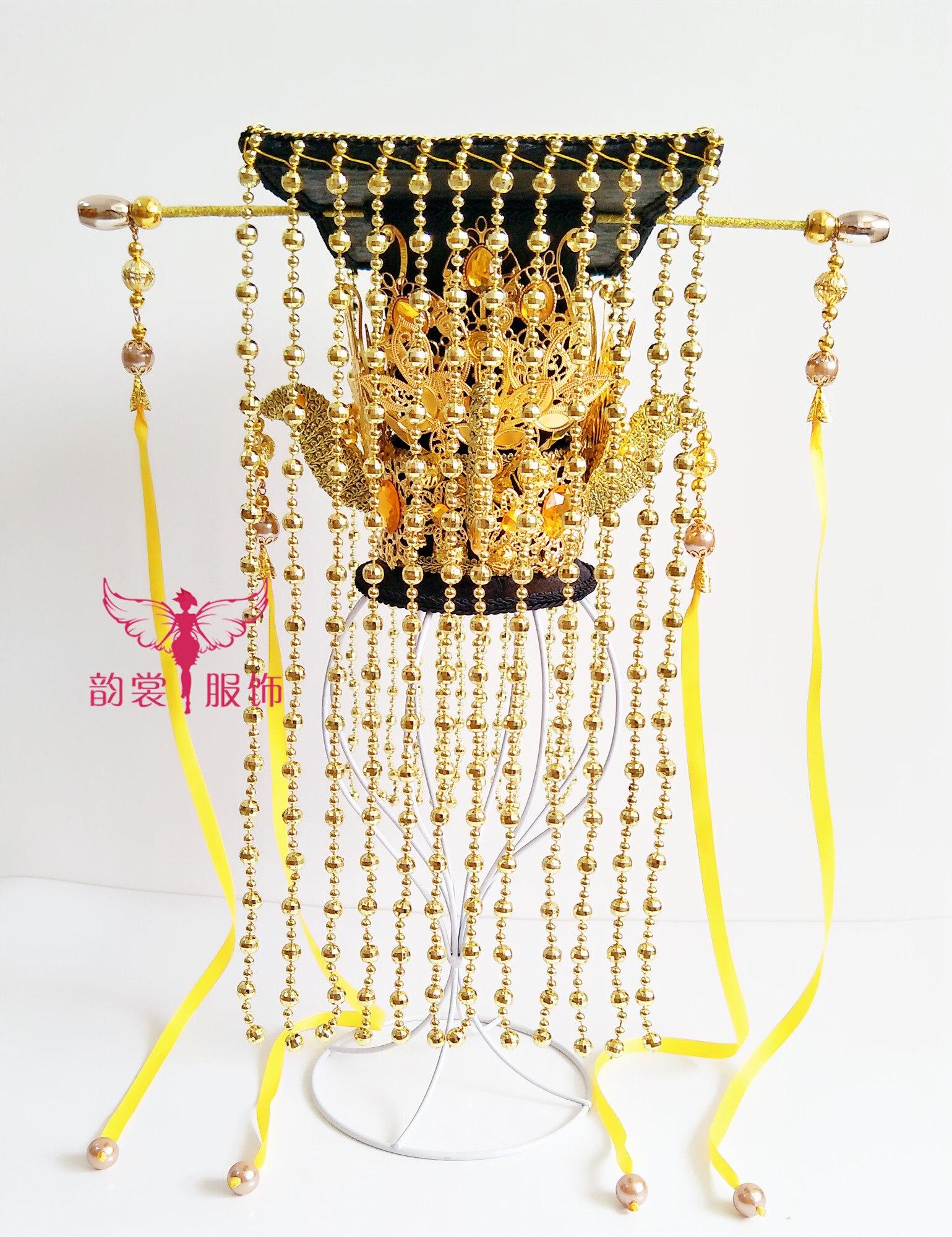 Imperador feminino coroa pedaço de cabelo tiara