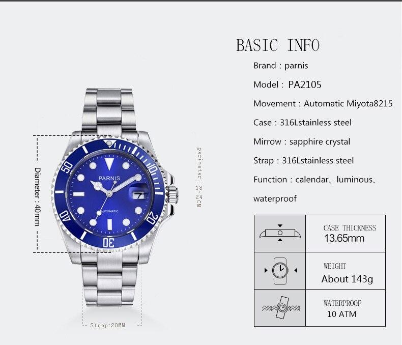 calendário relógios masculinos aço mekanik erkek kol saati reloj automatico 2021
