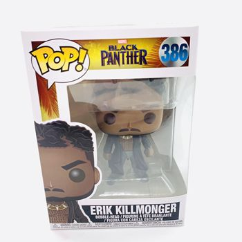 Funko Pop Black Panthers ERIK KILLMONGER #386 Vinyl Figure Dolls Toys Marvel Action Figure Model Toys Collections 2