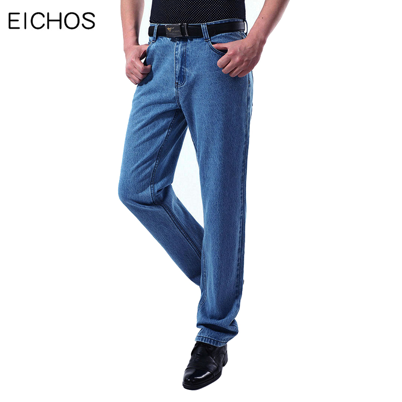 New 100% Cotton Jeans Men Classic Vintage Straight Washed Denim Pants For Men Autumn Casual High Quality Overalls Denim