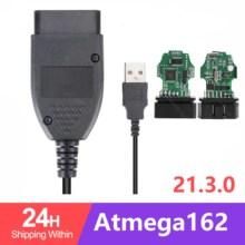 Alta qualidade hex pode interface usb vagcom 20.12.0 vag com 20.4 para vw audi skoda seat vag 20.4.1 polonês/inglês atmega162