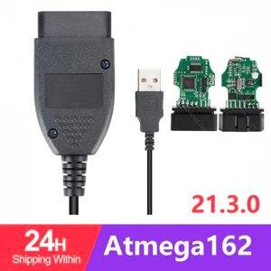 Image 1 - גבוהה באיכות HEX יכול ממשק USB VAGCOM 20.12.0 VAG COM 20.4 עבור פולקסווגן אאודי Skoda VAG 20.4.1 פולני/אנגלית Atmega162