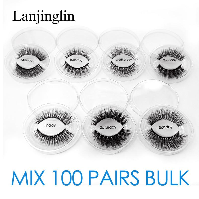 Wholesale 3d Mink False Eyelashes 20/30/40/50/70/100 Pairs Fluffy Wispy Fake Lashes Natural Long Makeup Lash Extension In Bulk