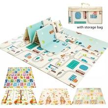 Dobrável rastejando tapete crianças jogo atividade cobertor dobrável brinquedos educativos bebê jogar tapete à prova dwaterproof água xpe macio piso playmat